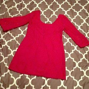 As U wish large maroon scoop neck dress